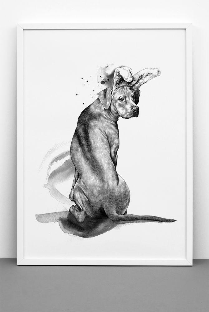Wannabee print,One Must Dash,Prints & Artwork,cat,drawing,illustration,sketch