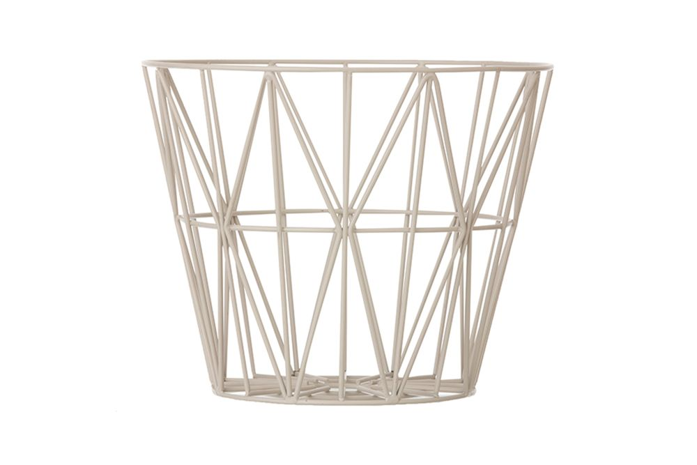 Medium, Brass,ferm LIVING,Baskets,drinkware