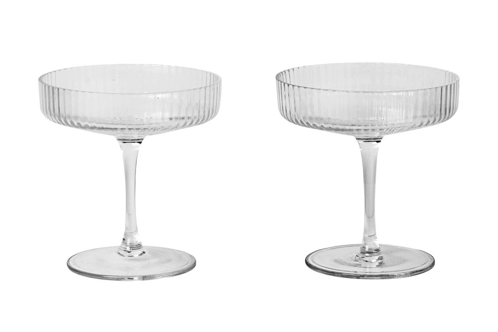 Ripple Champagne Saucer - Set of 12 by ferm LIVING
