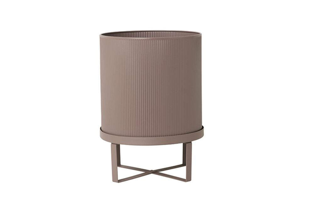 Small, Warm Grey,ferm LIVING,Plant Pots,beige,cylinder,furniture,product,table