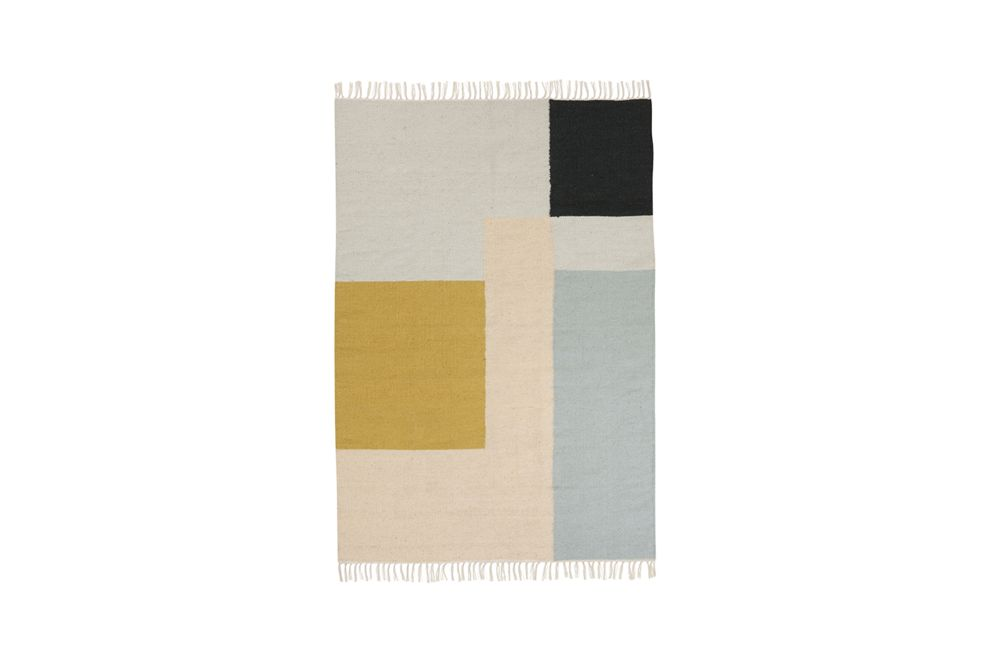 ferm LIVING,Rugs,beige,product,rectangle,yellow