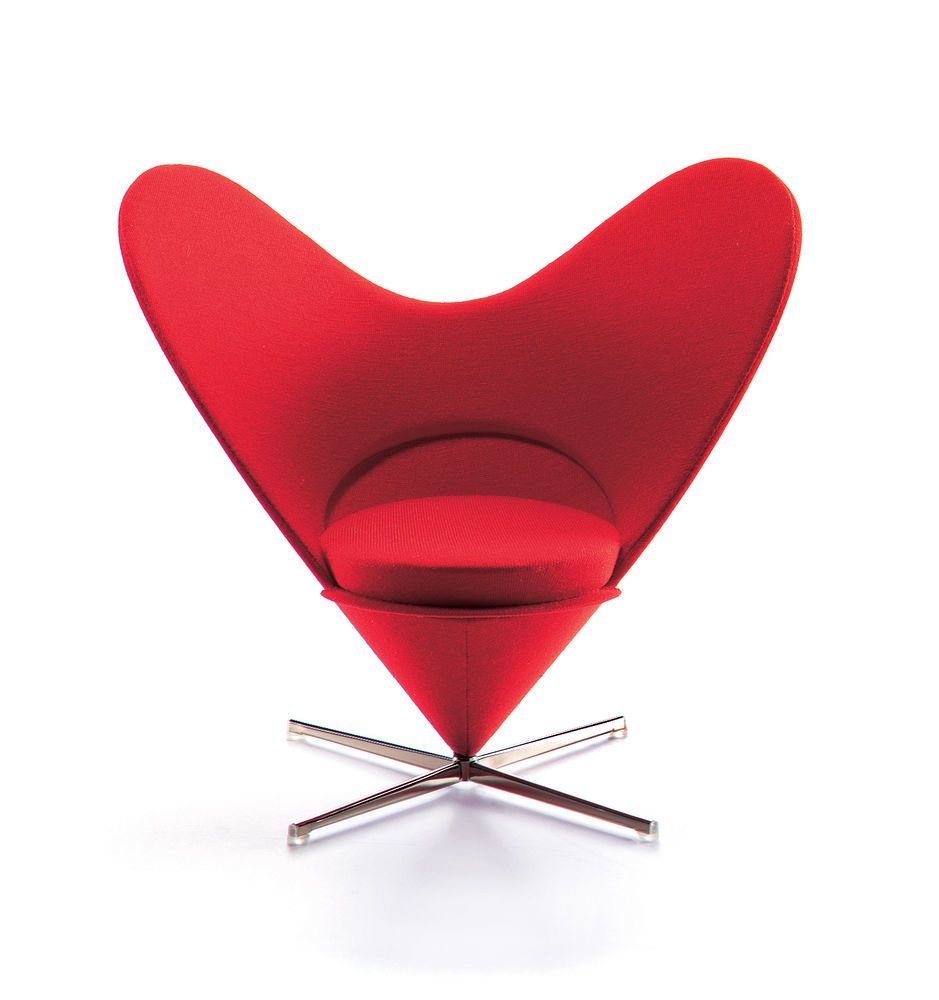 Miniature Heart-Shaped Cone Chair by Vitra