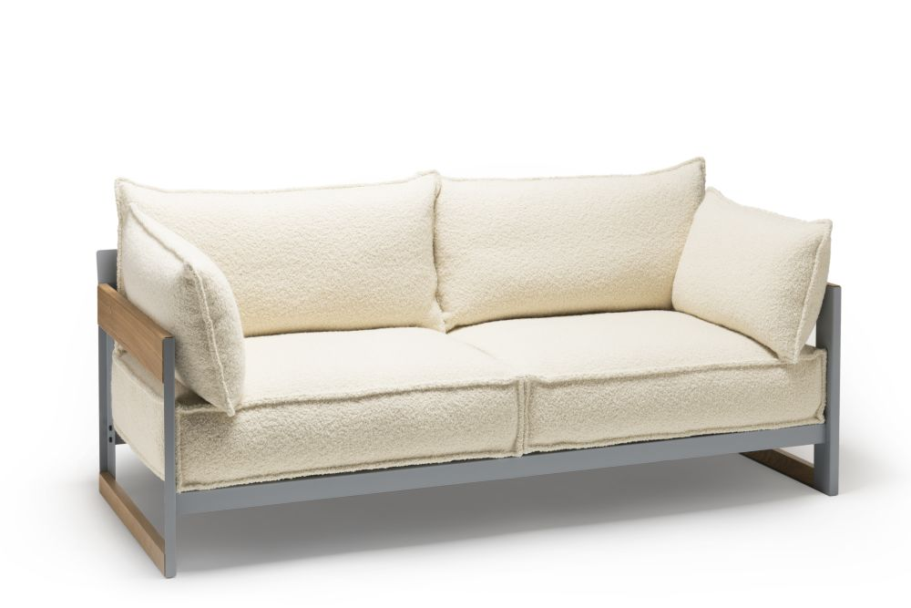 165, Grey, Oiled Oak, Maya,Established & Sons,Sofas,beige,couch,furniture,loveseat,outdoor sofa,sofa bed,studio couch