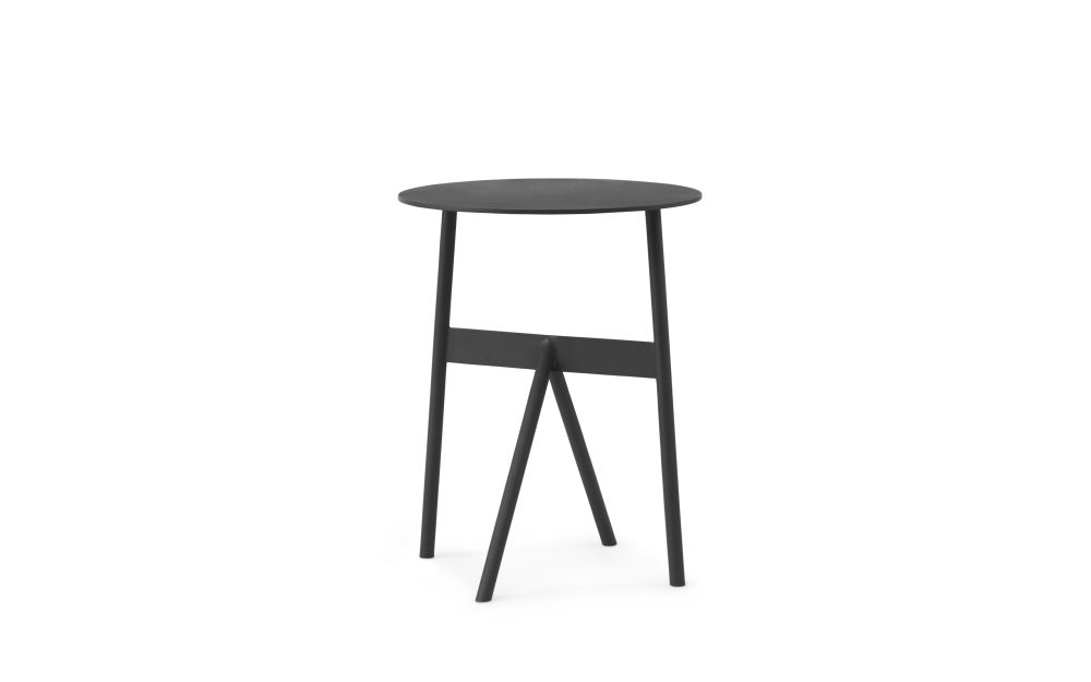 Black,Normann Copenhagen,Coffee & Side Tables,bar stool,furniture,stool,table