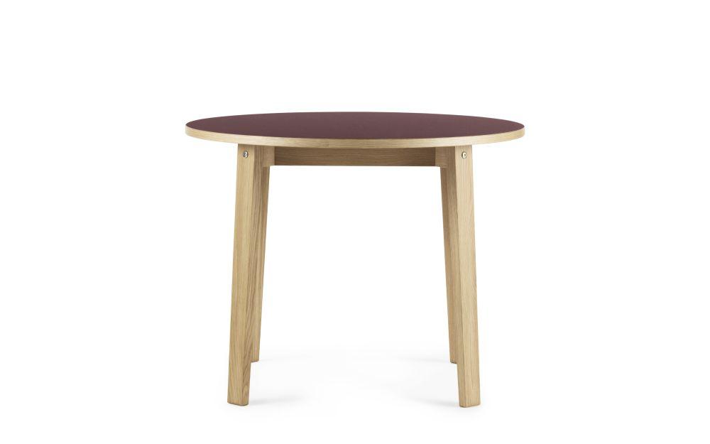 Slice Linoleum Round Dining Table by Normann Copenhagen