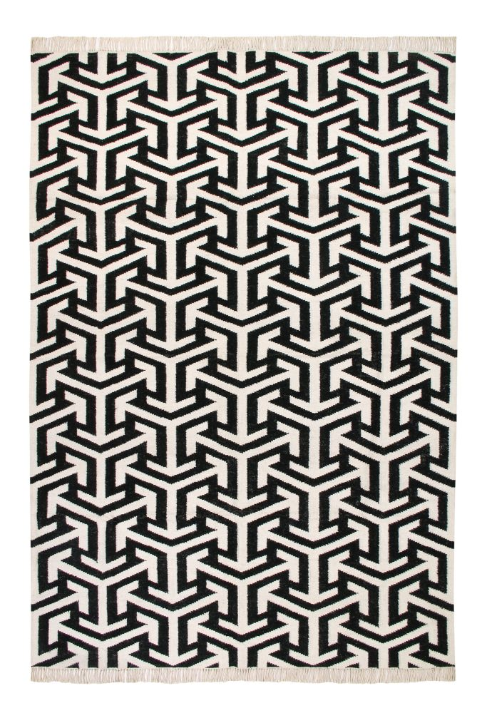 Crossroads: Contemporary Handwoven Wool Rug (Medium),Ana & Noush,Rugs,design,line,pattern,rug