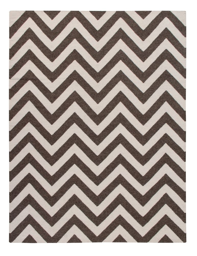 Fjall: Contemporary Handwoven Wool Rug,Ana & Noush,Rugs,beige,brown,design,line,pattern,white