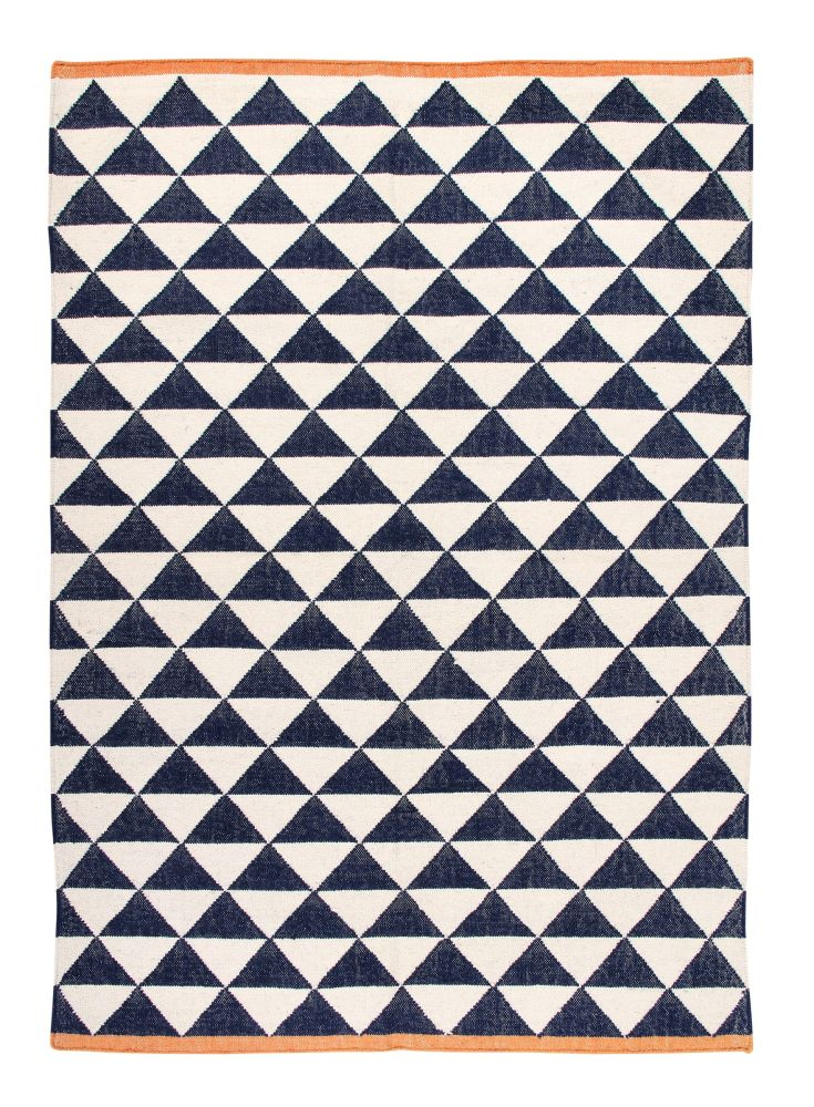 Shards: Contemporary Handwoven Wool Rug (Large Blue),Ana & Noush,Rugs,design,line,pattern