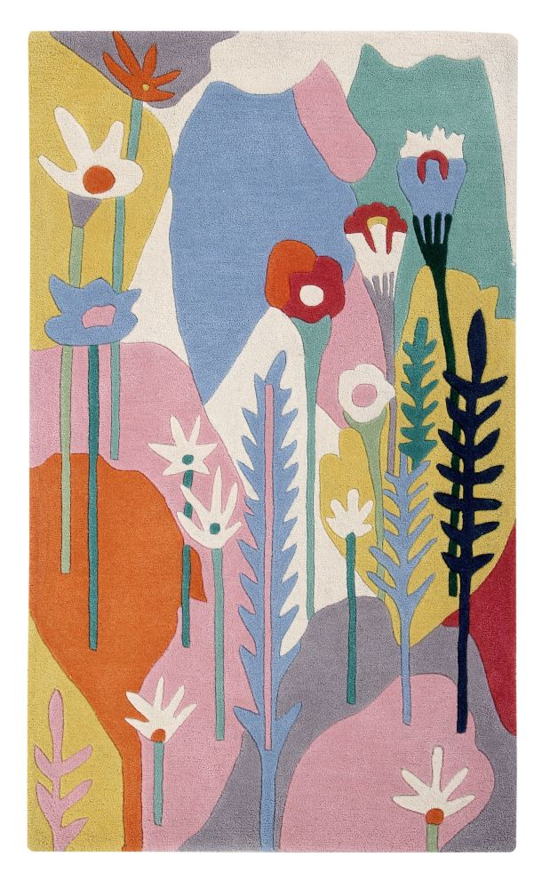 Wildflowers: Childrens Wool Rug,Ana & Noush,Rugs,leaf,painting