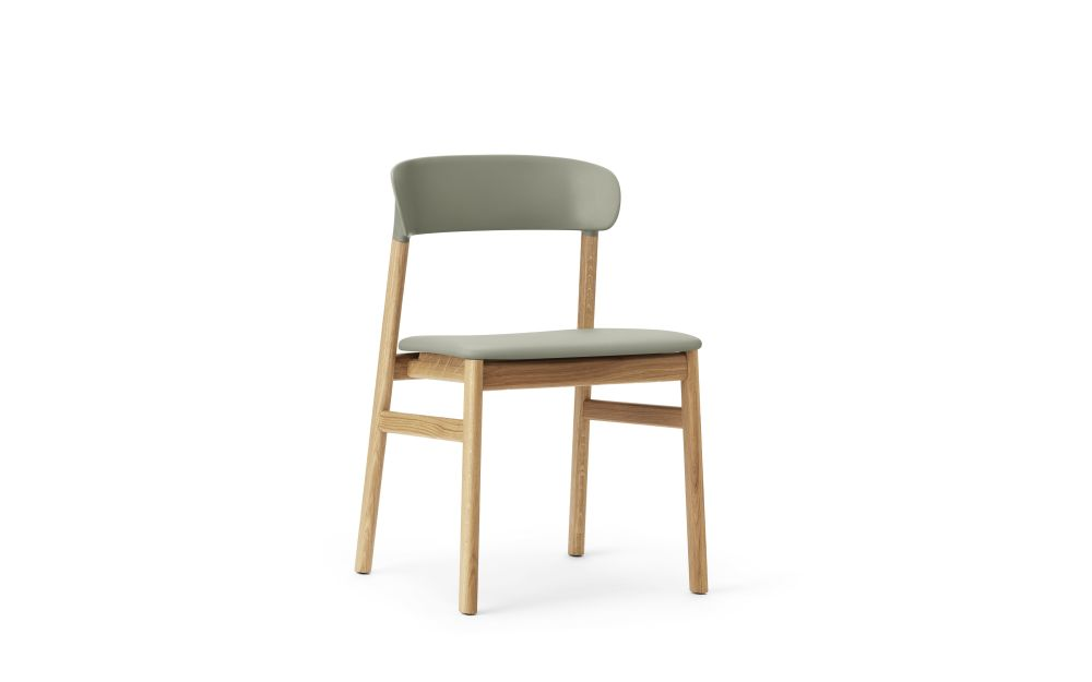 Herit Dining Chair with Upholstered Seat by Normann Copenhagen