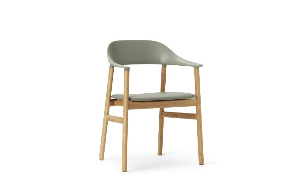 Herit Dining Chair with Armrests and Upholstered Seat by Normann Copenhagen