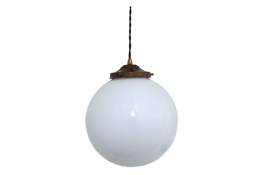 Gentry Opal Globe Pendant Light, 30cm by Mullan Lighting