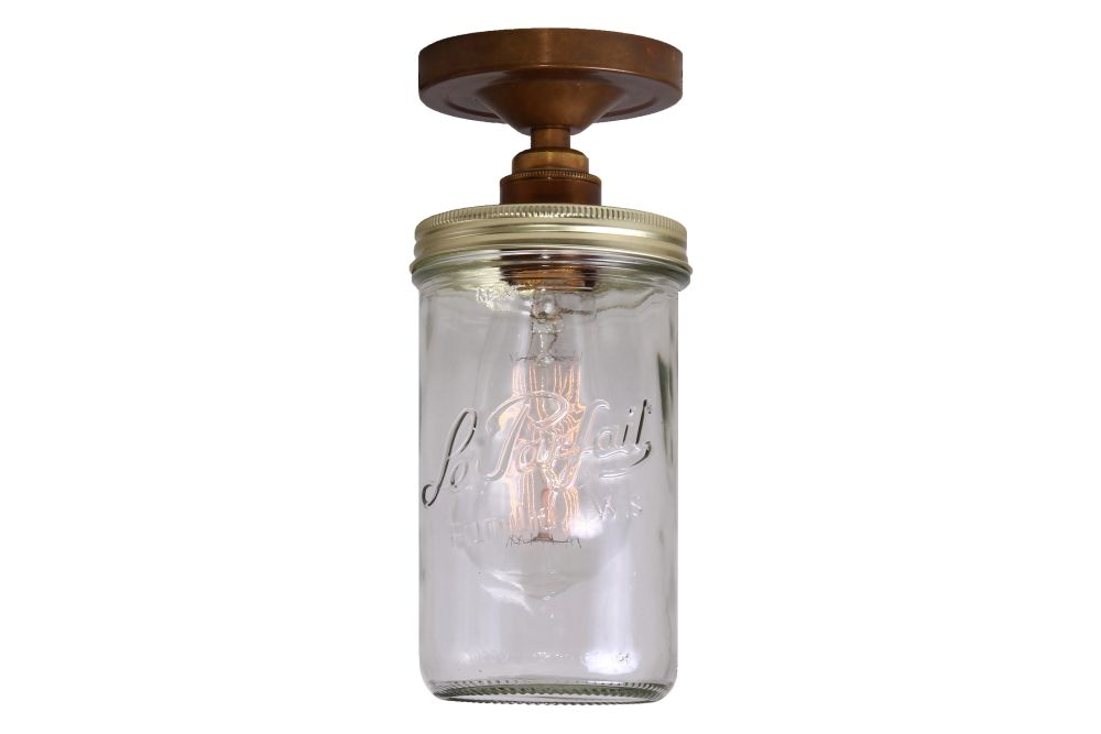 Jam Jar Ceiling Light by Mullan Lighting
