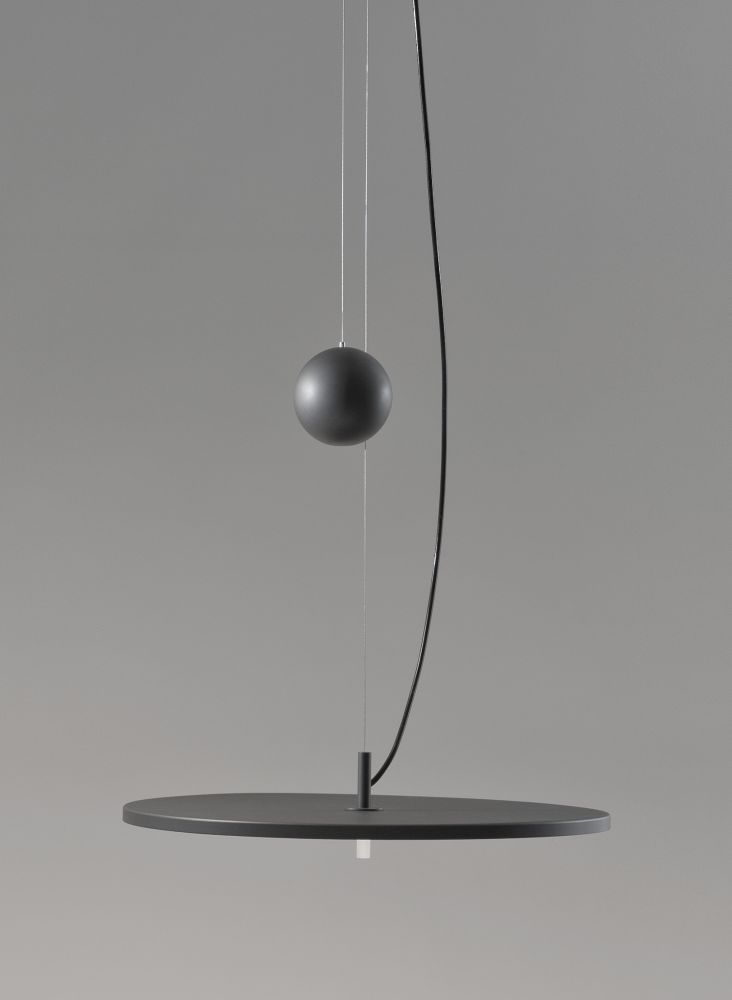Structure + up&Down Canopy+Counterweight, 44,Santa & Cole,Pendant Lights,lamp,light,light fixture,lighting,pendulum,sphere,still life photography