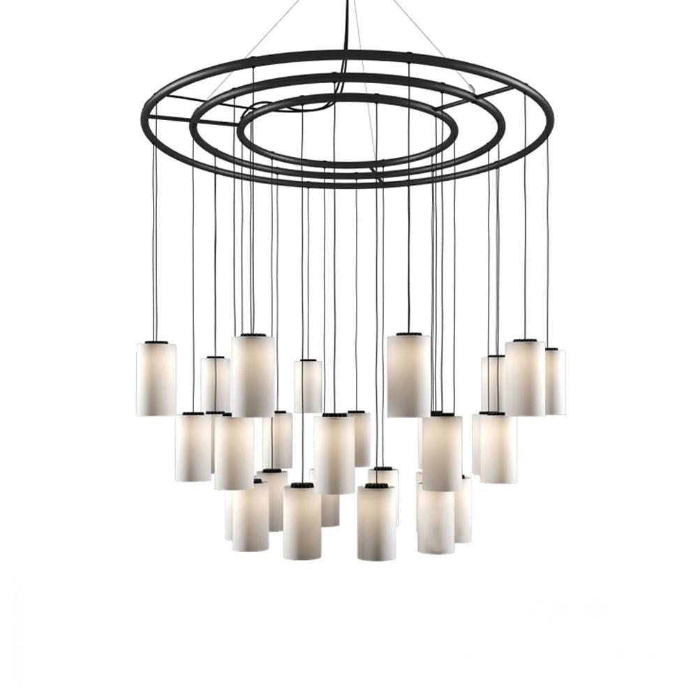 100cm, White porcelain / matte interior/ gloss exterior,Santa & Cole,Pendant Lights,ceiling fixture,chandelier,chime,light fixture,lighting