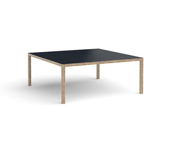 Black Linoleum,Established & Sons,Dining Tables,coffee table,desk,furniture,outdoor table,plywood,rectangle,table