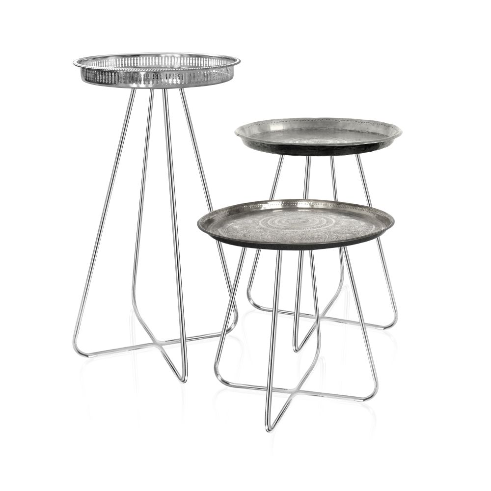 New Casablanca Table Silver Short,Mineheart,Tables & Desks,bar stool,coffee table,furniture,product,stool,table