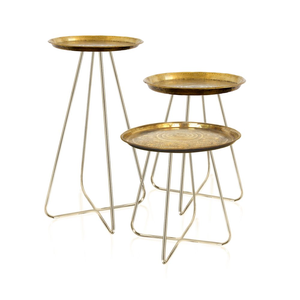 New Casablanca Table Brass Short,Mineheart,Tables & Desks,bar stool,coffee table,furniture,stool,table