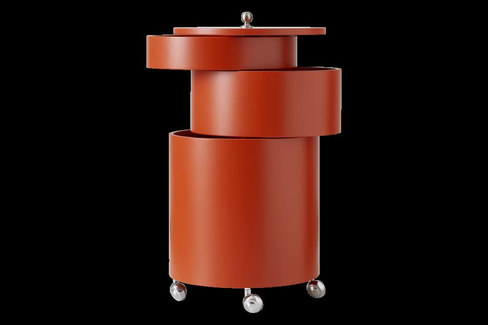 43 Black,Verpan,Coffee & Side Tables,cylinder,orange