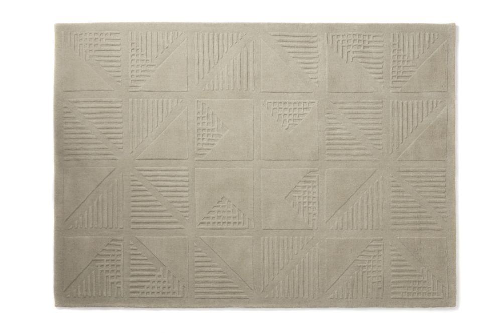 Gridwork Cream Wool Rug by Lindsey Lang