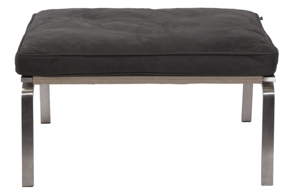 Black Vintage Leather,NORR11,Footstools,beige,chair,furniture