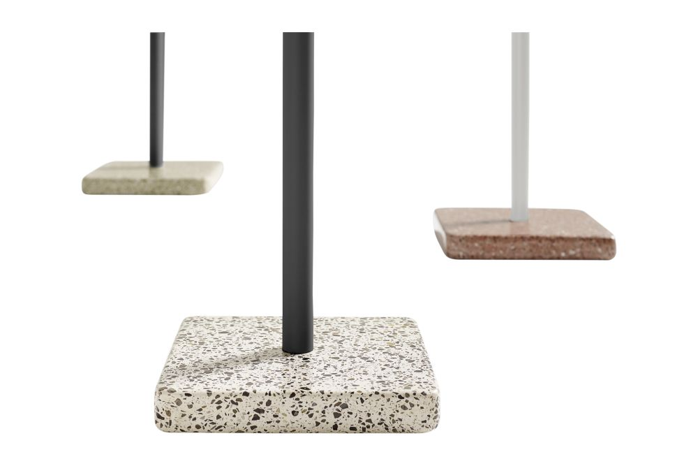 Metal Anthracite / Terrazzo Grey,Hay,Dining Tables,beige,rectangle,rock,table