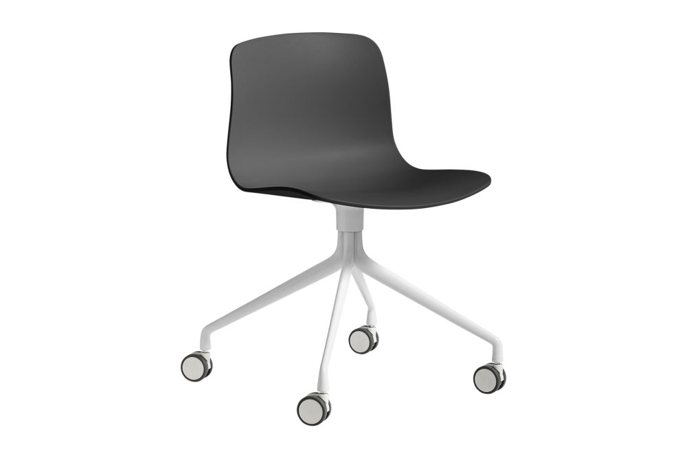 Metal White, Plastic Soft Black,Hay,Conference Chairs,chair,furniture,line,material property,office chair,product