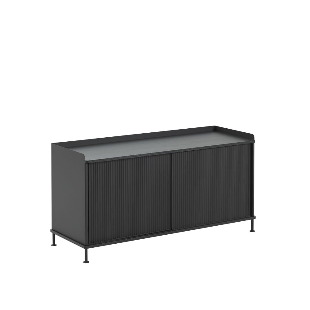124.5 x  45 x 62, Black/Black,Muuto,Cabinets & Sideboards,bench,furniture,outdoor table,rectangle,sideboard,table