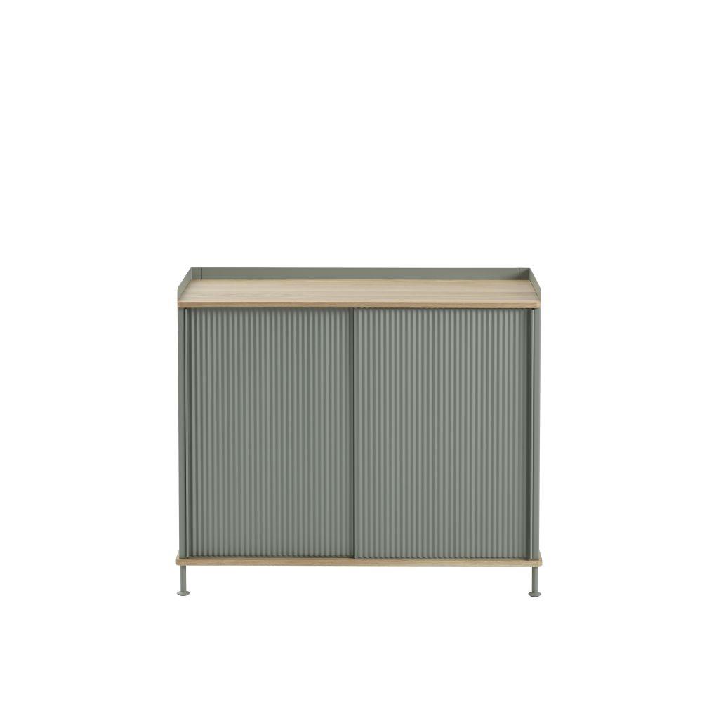 124.5 x  45 x 62, Black/Black,Muuto,Cabinets & Sideboards,beige,furniture,rectangle,sideboard,table