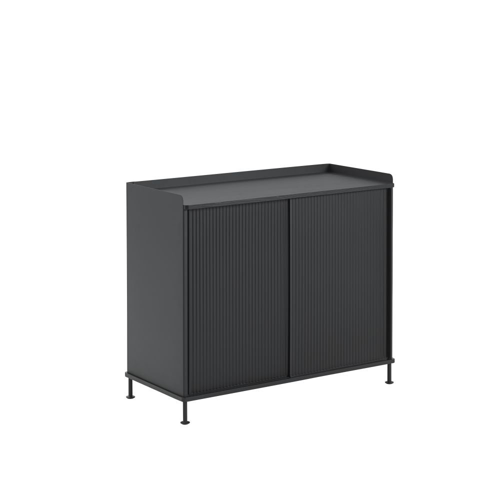124.5 x  45 x 62, Black/Black,Muuto,Cabinets & Sideboards,furniture,rectangle,sideboard