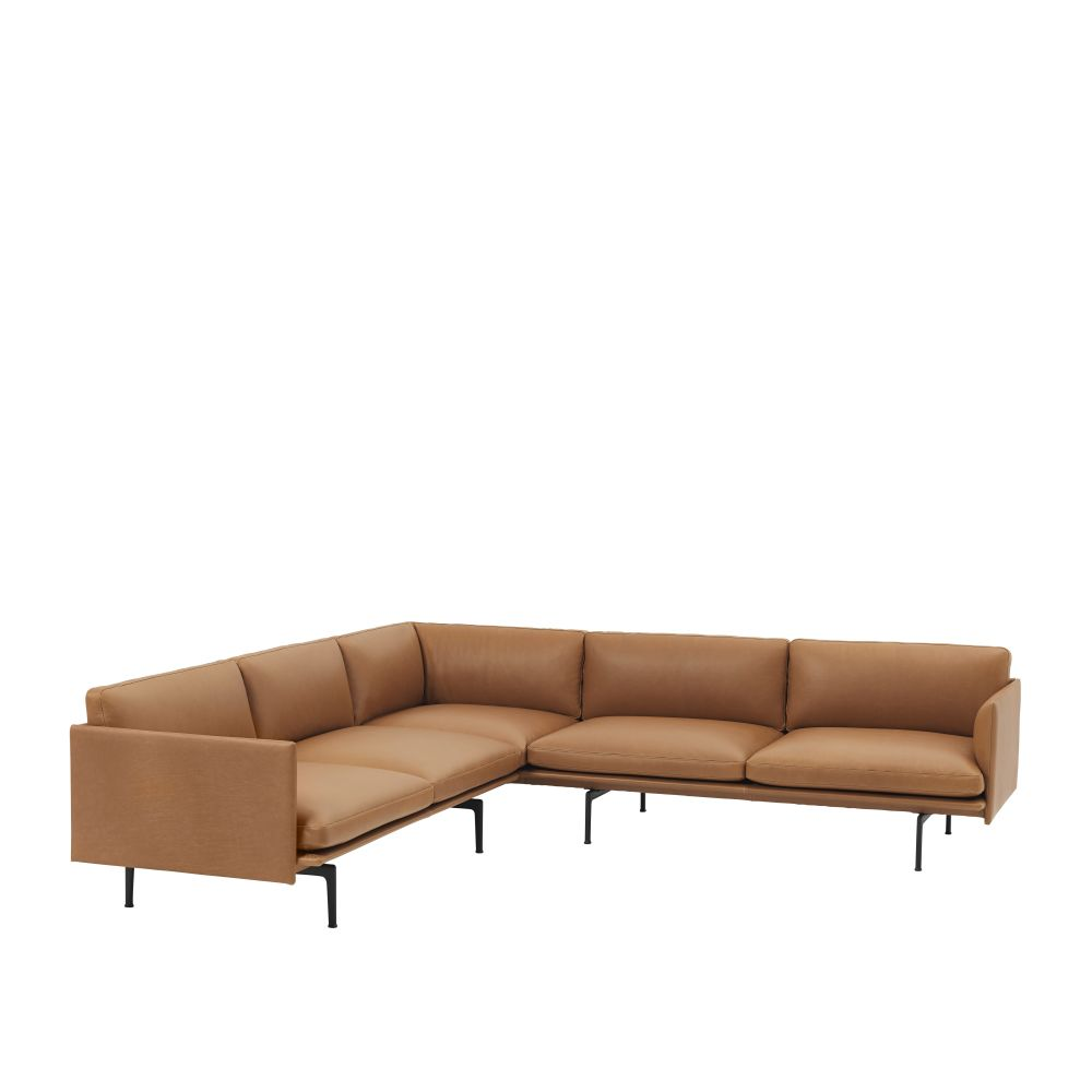 28222 Endure Leather,Muuto,Sofas,beige,brown,chaise longue,couch,furniture,leather,sofa bed,studio couch