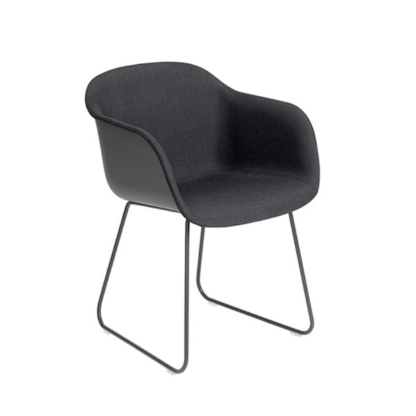 Black / Black, Wooly by Nevotex,Muuto,Office Chairs,chair,furniture