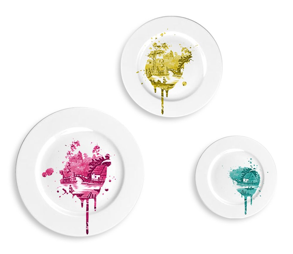 Funky Undercover Antique Plates by Mineheart