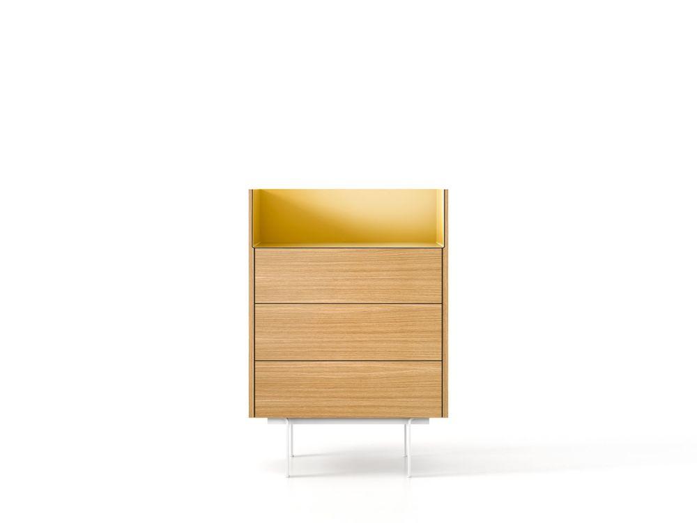Sth112 Stockholm Sideboard Super Matt Oak Gold Anodised Aluminium