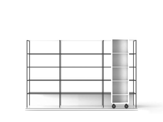 Super-matt Oak, Super-matt Oak, White Textured Metal,Punt,Bookcases & Shelves,furniture,line,shelf,shelving
