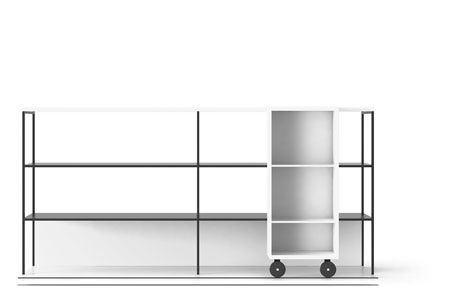 Super-matt Oak, Super-matt Oak, White Textured Metal,Punt,Bookcases & Shelves,bookcase,furniture,line,shelf,shelving