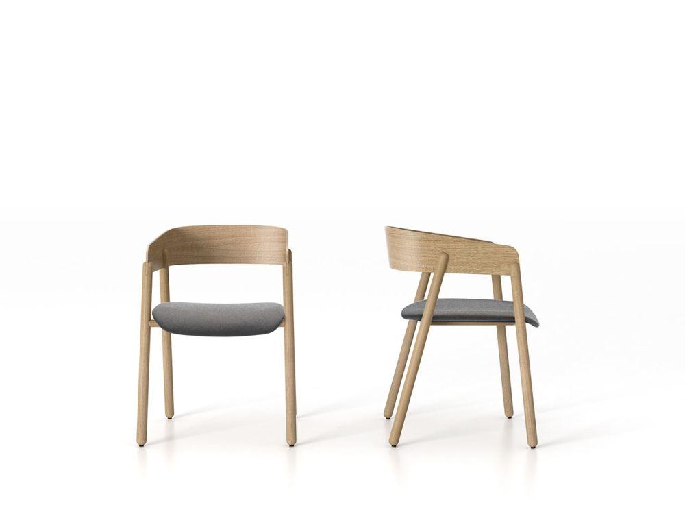 Valencia Amethyst, Super-matt Oak,Punt,Armchairs,chair,furniture,plywood,table,wood