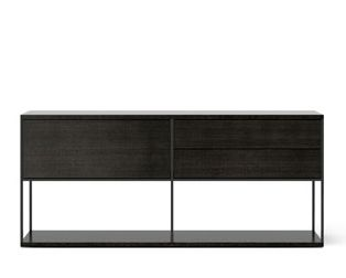 Super-matt Oak, White Textured Metal,Punt,Cabinets & Sideboards,chest of drawers,furniture,rectangle,sideboard,sofa tables,table