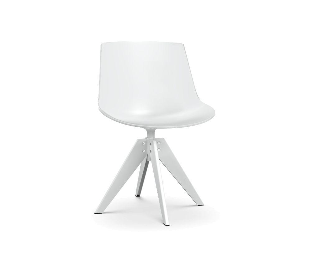 White Shell & Matt White Frame,MDF Italia,Dining Chairs,chair,furniture,lamp,light fixture,lighting,table,white