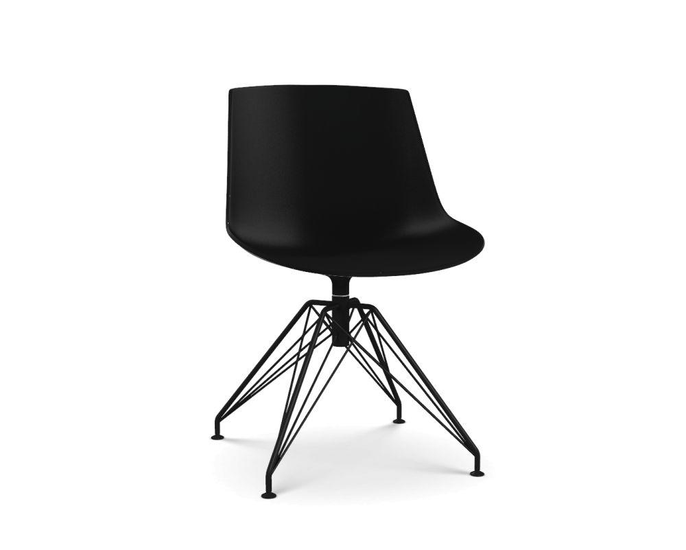 Flow Chair, LEM 4 Legged Base by MDF Italia