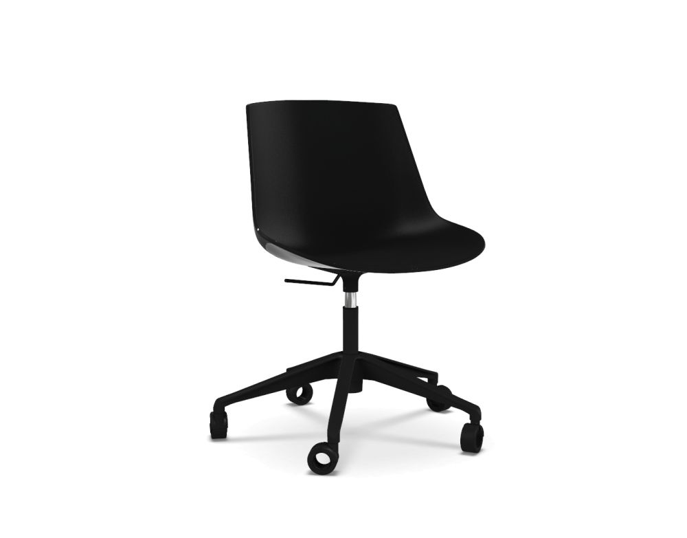 Flow Chair, Adjustable Height, Star Base with Castors by MDF Italia