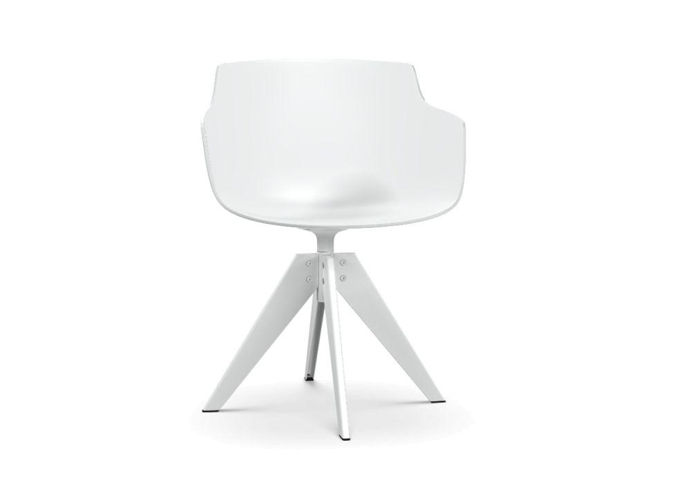 Flow Slim Chair, VN 4 Legged Steel by MDF Italia