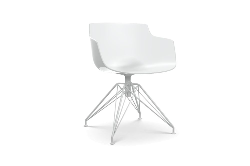 White Shell & Matt White Frame,MDF Italia,Seating,chair,furniture,material property,white