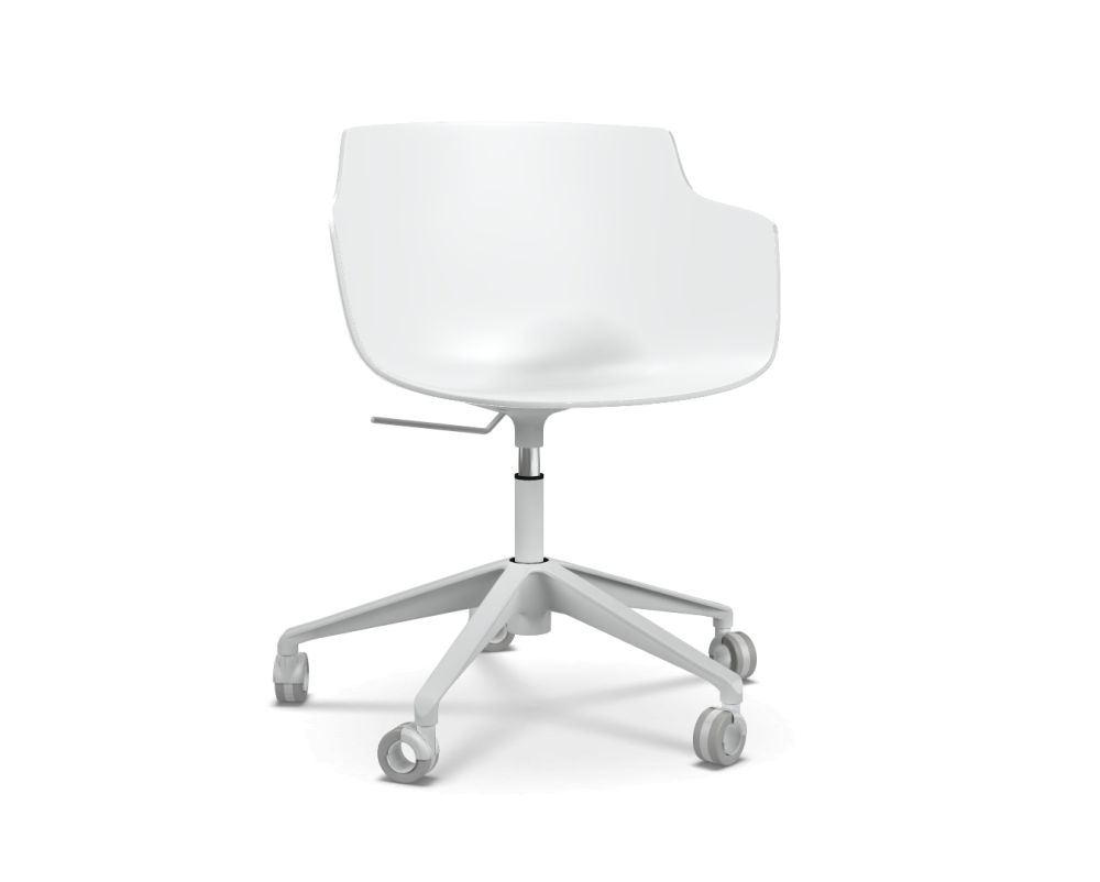Flow Slim Chair, Adjustable Height, Star Base with Castors by MDF Italia