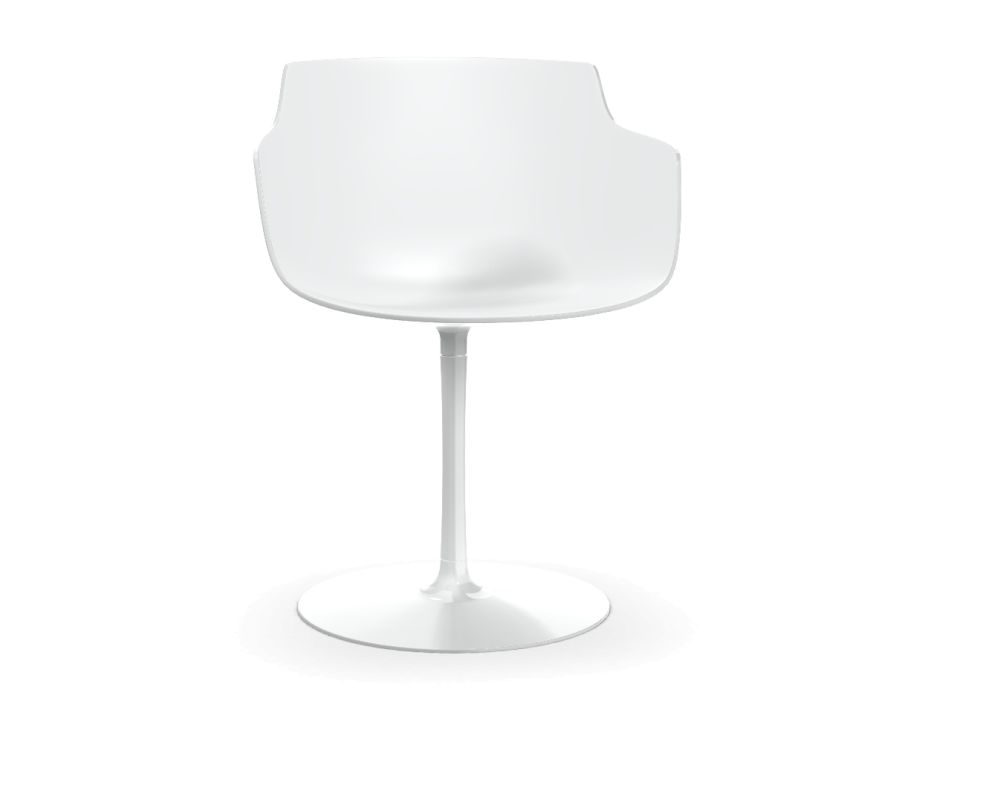 Flow Slim Chair, Central Leg by MDF Italia