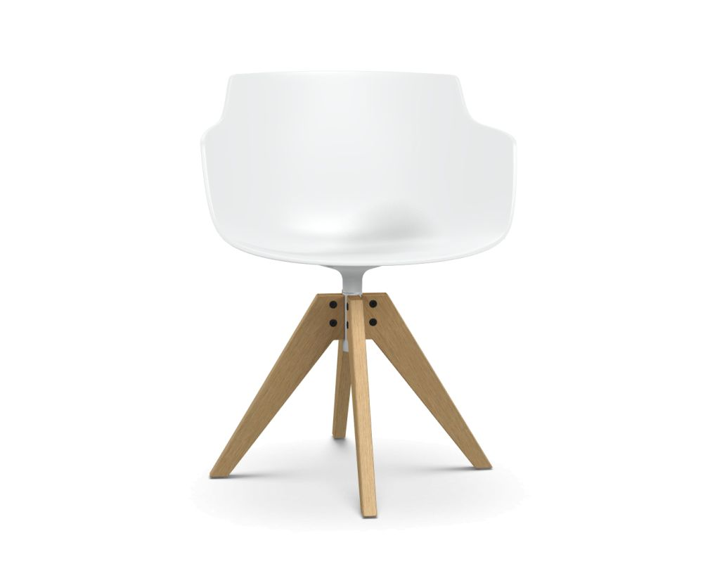 Natural Oak, White,MDF Italia,Dining Chairs,chair,furniture,lamp,lighting,table