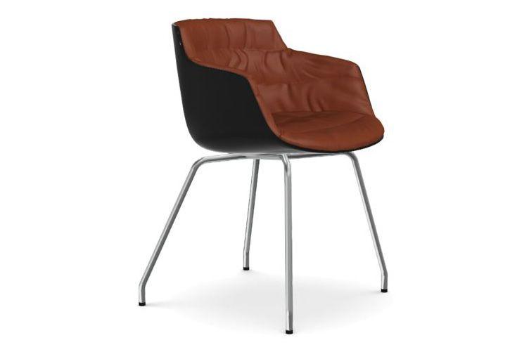Flow Slim Chair, 4 Legged Base, Padded by MDF Italia