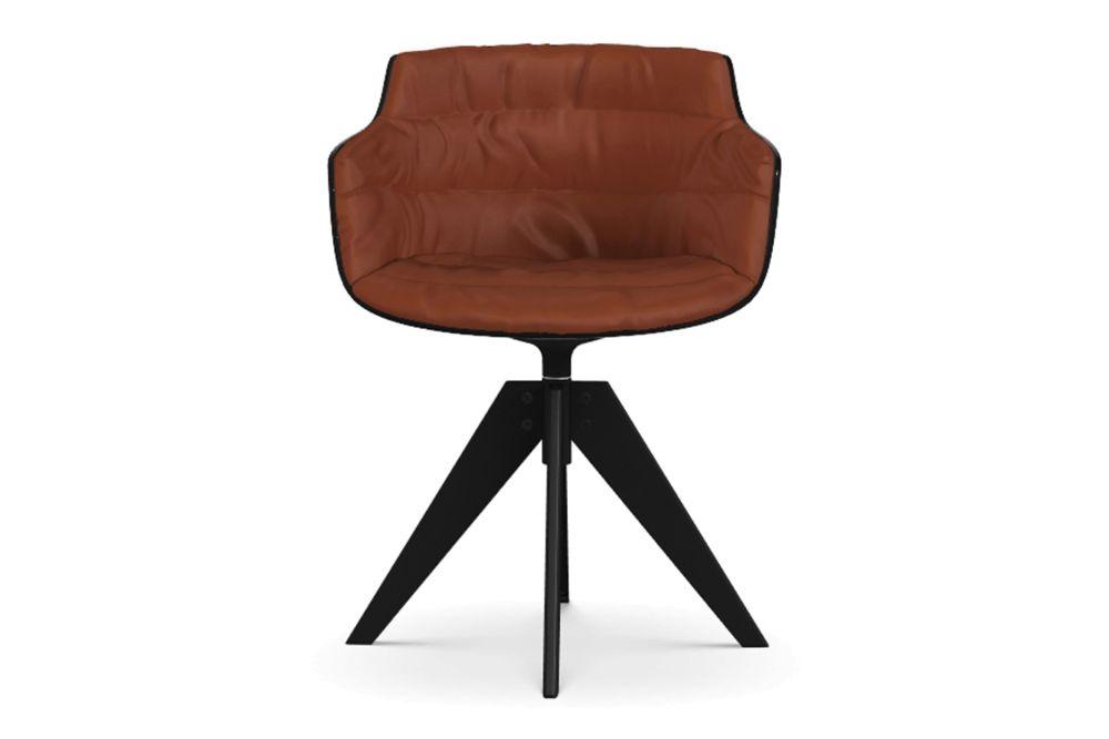 Flow Slim Chair, VN 4 Legged Steel Base, Padded by MDF Italia