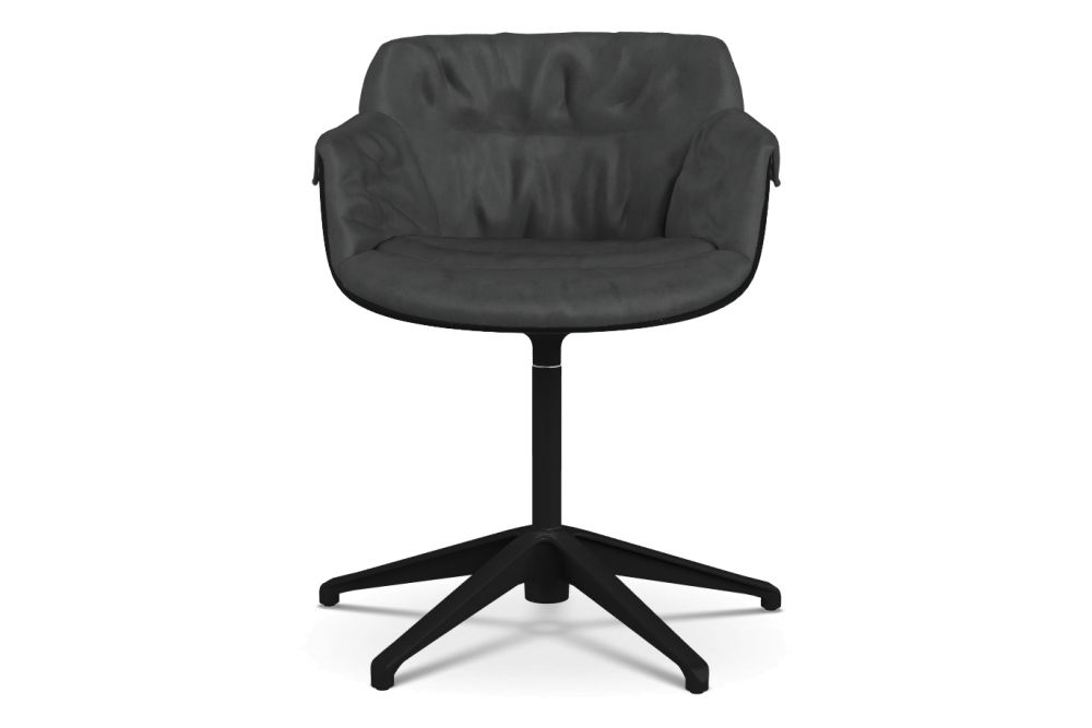 Flow Slim Chair, Fixed Star Base, Padded XL by MDF Italia
