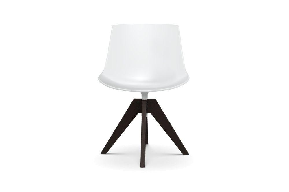 Flow Chair, 4 Legged Oak Base, Soft Touch by MDF Italia